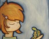 telling secrets - original painting