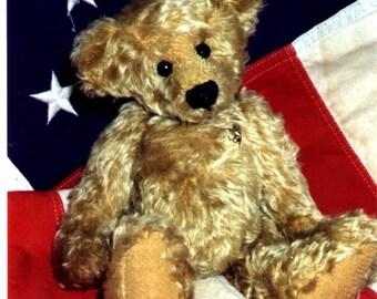 """Cody an 11"""" Teddy Bear pattern by Linda Johnson of BEARDEAUX BEARS"""