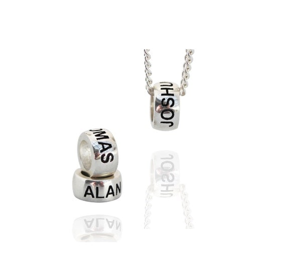 Personalised Solid Sterling Silver Name Beads charms Perfect addition to your pandora charm bracelet or chain. Makes a great gift item
