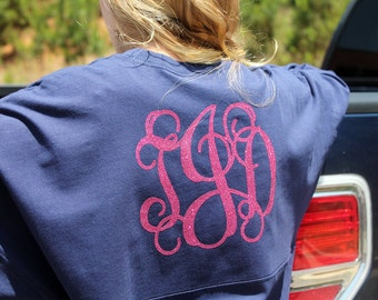Personalized Preppy Jersey - Vine Monogram