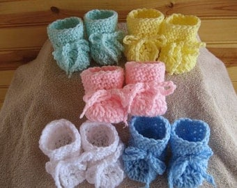 Crochet Doll Shoes - 5 for 1 price - Bitty Baby Doll