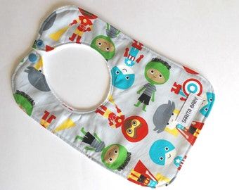Baby Bib - Baby Boy - Cartoon Avengers Bib - Baby Gift - Baby Shower Gift