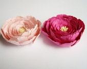 2 Pink peonies flowers, paper peony, wedding decoration, party decoration, artifical flowers, paper flowers, table decoration, flowers