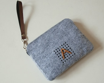 Monogram Techie Pouch, Power Cord Case, for Digital Accessories and others, Custom Made.