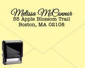 FREE US SHIPPING * Self Inking Return Address Stamp * Custom Address Rubber Stamp (E027)