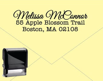 Self Inking Return Address Stamp * Custom Address Rubber Stamp (E027)