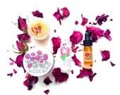 Mini Beach Rose Skin Care Set . natural skin care