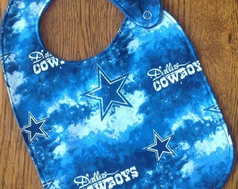 Dallas Cowboys Minky Baby/Toddler Bib
