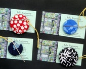 Christmas Stocking Stuffer Quilter's Magnetic Batik Fabric Needle Keeper Needle Nanny Needle Holder Needle Minder  Buddy Hand Made