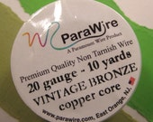 Vintage Bronze 20 Gauge Wire from ParaWire - 10 Yard Spool