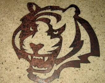 Cincinatti Bengals Tiger-Metal art, wall art, sports art, home decor, bar art, man cave