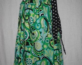 Bold, Retro print little girls' dress - MIchael Miller fabric