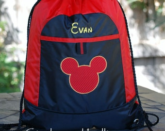 Girl Boys custom personalized  backpack  disney minnie mouse mickey mouse pirate
