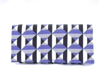 Ready to Ship Coupon Organizer Holder Purple Black Geometric Heavy Duty Fabric
