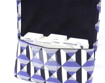 Coupon Organizer Holder Purple Black Geometric Heavy Duty Fabric