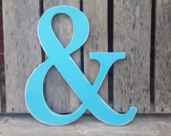 Shabby Chic Distressed Ampersand, Photo Prop, Engagement and Wedding Photos