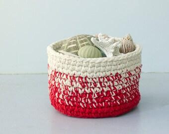 Crochet Basket, Ombre Basket, Easter Basket,  Custom, Chose Color,  Cotton Basket, Storage Basket, Home Decor