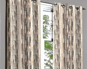 Tribeca Brown Stripes Grommet Lined Curtain in Textured Jacquard Weave Fabric Decor and Housewares Window Treatment Drape Curtain Panel