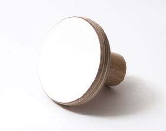 Wooden knobs white color