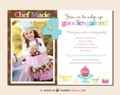 Little Chef Baking Birthday Party Photo Invitation (Digital File - Printed Cards Also Available)