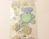 Boy Toys, Playtime, Jolee's Boutique, Scrapbook Embellishment, ABC Blocks, Dimensional Stickers, Cards, Tags, Crafting Supply, Bear, Buttons