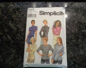 Simplicity knit tops pattern