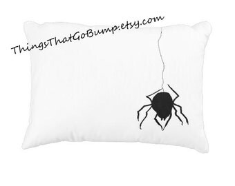 Wicked spider toss pillow widow made to order spiders pillow horror decor