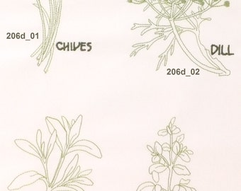 Herbs Machine Embroidery Designs 206d