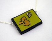 Green Squirrel Necklace