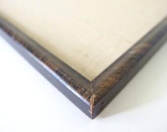 Vintage Wood Frame - Faux Tiger Wood