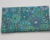 Checkbook Cover - Free Spirit Mendhi Fabric