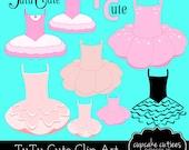 Tutu Cute- Ballerina Elements Digital Clipart -Commercial use -Instant Download