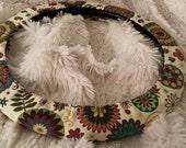 Mandalas Mosaic * Steering Wheel Cover * Cogs *  Steampunk * Ferns & Flowers *  Medallion MosaicsTeal Brown Mauve Pink Green