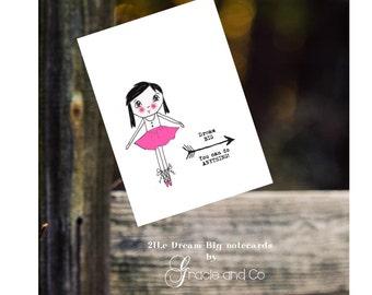 Custom designed note card friend inspirational notecard stationery girls stationery girls note cards birthday girlfriend cards