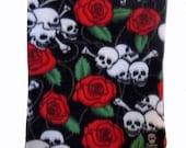 ON SALE Punk Rock Baby - Skull Blanket - Baby Blanket - Toddler Blanket -  Fleece Blanket - Stroller Blanket -  Girl Blanket - Boy Blanket