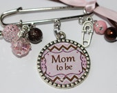 Mom to be Pin, Personalized Baby Shower Gift,Custom Baby Pin Brooch