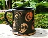 Black Wood Fired Spiral Mug