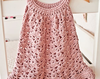 Crochet dress PATTERN - Chantilly Lace Sundress (sizes up to 8 years)