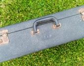 BLACK COWHIDE LUGGAGE, Black Suitcase,Storage,Manly Suitcase,Vintage Leather Luggage,Train Case