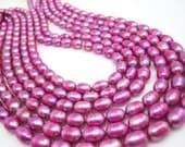 Freshwater Pearl Beads,  Pink Pearls, Potato Shape, SKU 4649