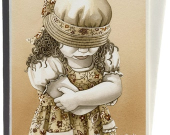 The Pout Greeting Card by Tracy Lizotte