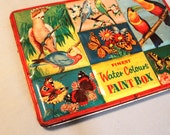 Large Tin Litho Paint Box