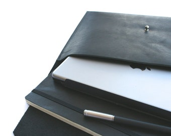 Leather Ipad Case or Portfolio, in Black or Brown