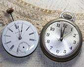 Salvaged Pocket WATCH- Westclox Pocket Ben- Knickerbocker Watch Company- Porcelain Face- Working