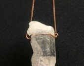 Selfhealed Quartz simple wire wrapped crystal point Necklace