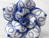 25mm Polymer Clay Rose Beads Set of Three (R14)