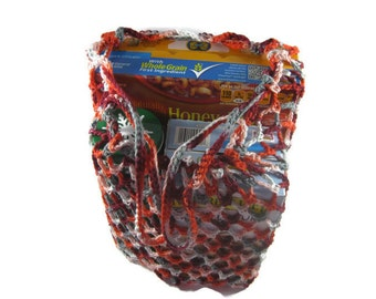 Crochet Cotton Reusable Grocery Bag, Beach Bag, Net Bag