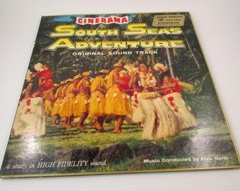 Vintage South Seas Adventure Record Album Music Conducted by Alex North Original Sound Track LP Cinerama