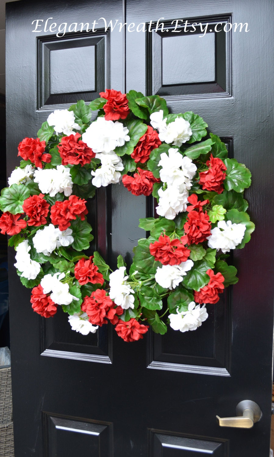 Summer Wreaths Geranium Wreath Outdoor Summer Wreaths