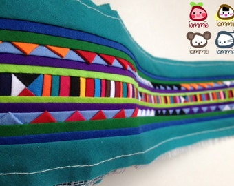 Hmong fabric, Hmong Textile, Lisu Textile, fabric, green, turquoise, blue, hill tribe, Hmong, Lisu fabric, Crafting, quilt, textile, iammie